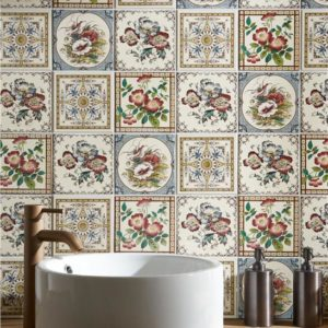 symmetrical tile bathroom renovations